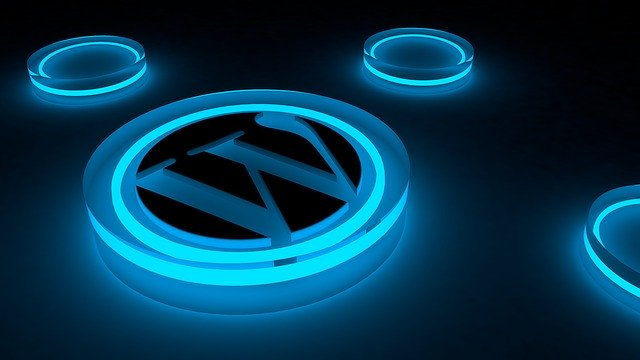 WordPress Logo Glow Internet Blog